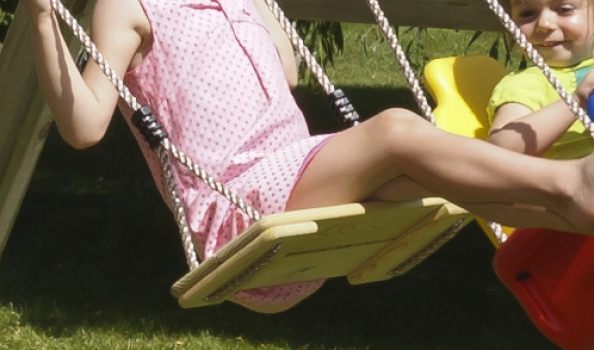 Pinewood swing seat - Blue Rabbit 2.0