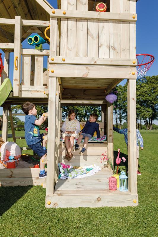 wooden blue rabbit playtower Palazzo climbing